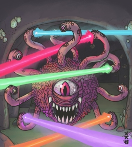 MONSTER BACKGROUNDS - BEHOLDER ANGRY LASERS