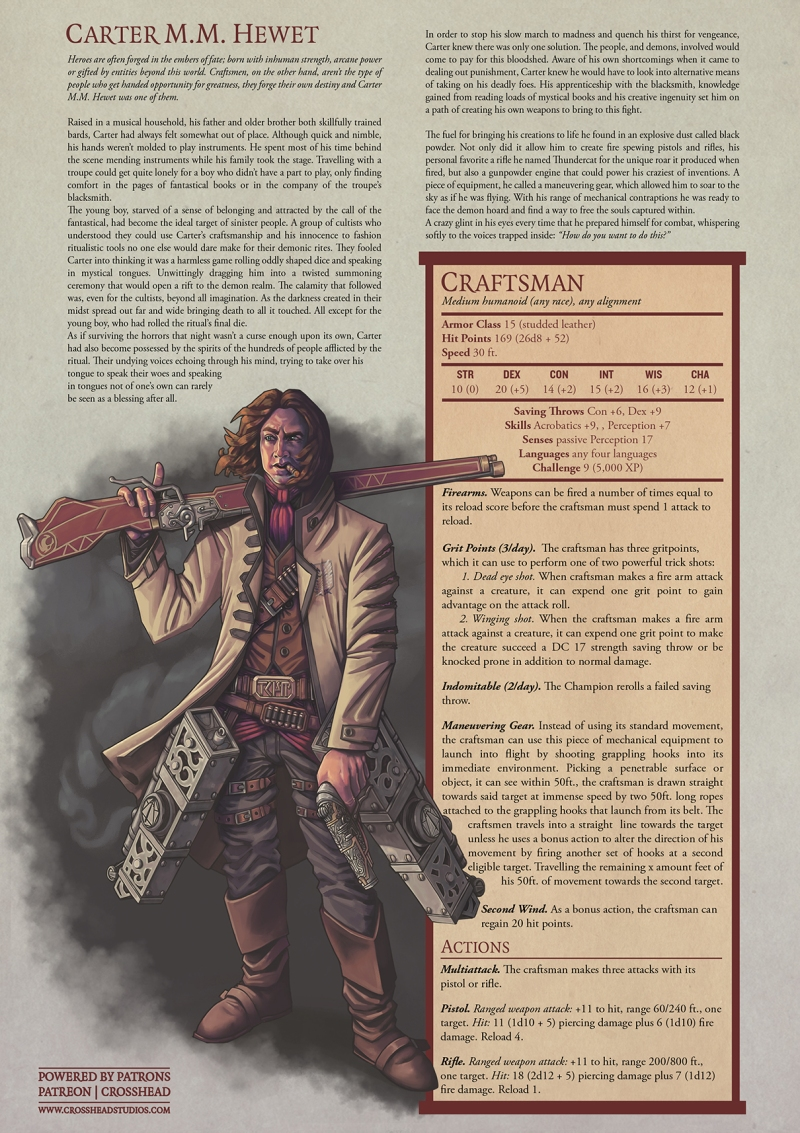 MATT MERCER CRAFTSMAN GUNSLINGER D&D 5E STATS MONSTER MANUAL.jpg